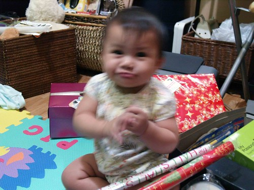 Christmas wrapping with duckie Lia