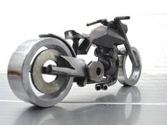 Metal Motorcycle Sculpture Buell Blast