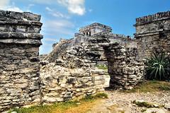 El Castillo Maya (Riccardo Granaroli Totoro88) Tags: mexico ruins maya tulum olympus ruinas tp ruines messico rovine totoro88 riccardogranaroli