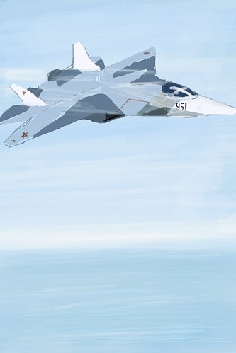 iPhone art - Sukhoi PAK FA (1280 x 1920) by Novomir