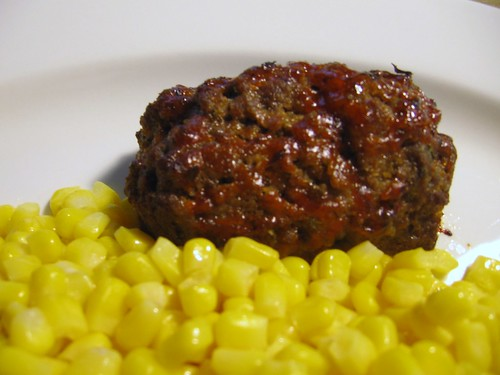 """Old-Fashioned Meatloaf"" and corn"