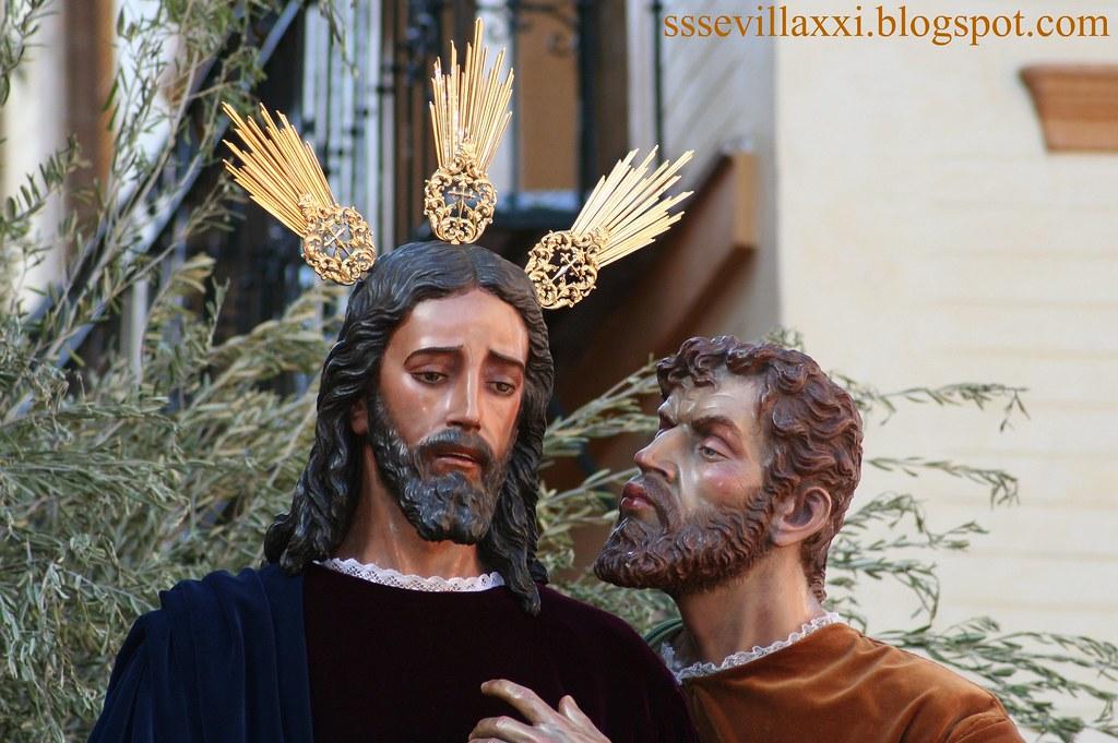 Nuestro Padre Jesús de la Redención en el Beso de Judas.