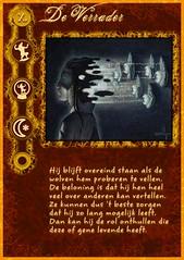 """De Verrader"" role card from my home-made Werewolf mega-set"
