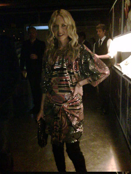 rachel in vintage ungaro at prada party