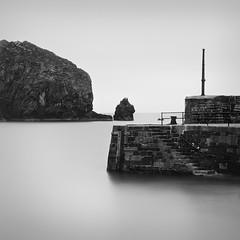 Mullion Harbour, Cornwall (Weeman76) Tags: uk longexposure sea bw seascape southwest monochrome mono nikon cornwall minimal le minimalist mullion d90 mullioncove nd110 mullionharbour niksoft silverefexpro2 sigma1770mmf284dcoshsm
