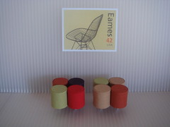 Pouf Ottomans (mini modernistas) Tags: house modern century miniatures miniature dolls hand contemporary handcrafted mid minis dollhouse crafted