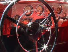 I wanna drive!! (Fish.outof.Water) Tags: red kansascity chrome steeringwheel starfilter artofthecarconcours