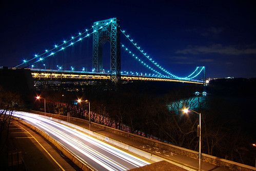 The Port Authority has swapped the bridges mercury vapor lamps for more energy-efficient LED fixtures (Courtesy sharpshoota.com)