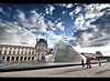 French Pyramids (edmundlwk) Tags: paris france glass museum clouds canon pyramid louvre filter cokin 450d p121m rebelxsi tokina1116mm edmundlim