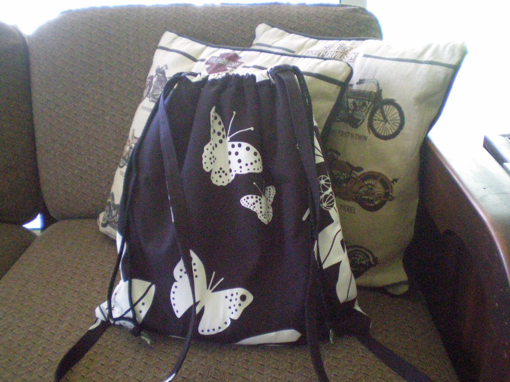 drawstring backpack — back
