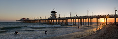 Huntington Beach Sunset Panorama (Dean of Photography) Tags: california sunset sea panorama orange beach pier sand surf waves pacific shore huntingtonbeach rubys bigmomma herowinner