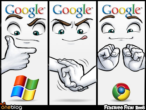 Google vs Microsoft --Chrome by michperu, on Flickr