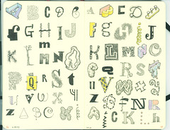 Letter 6 (Don Moyer) Tags: moleskine ink notebook typography sketch letters doodle type alphabet draw moyer letterform donmoyer
