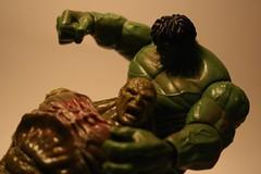Hulk vs Abomination (Corey's Toybox) Tags: toy actionfigure abomination figure hulk hasbro incrediblehulk 375