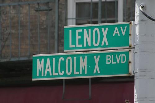 Harlem street signs.