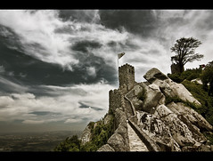 Centuries old and Standing (edmundlwk) Tags: castle portugal clouds landscape rocks fort sintra castelodosmouros moorishcastle canon450d rebelxsi tokina1116mm edmundlim