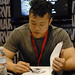 Mike Choi at the Marvel Booth
