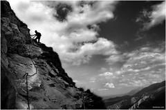 Coldness Of The Climb (Ben Heine) Tags: blue cold sport clouds danger montagne climb stream top echo young poland peak pic valley freeze effort complexity reach slope pursuit peril mountaineer escalade zakopane mountainclimber grimper tenuous montagnard arduous dennislambert hubertlebizay
