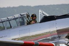SNJ Texan (ravenscroft) Tags: canon fighter wwii 70300mm texan snj 40d snjtexan canon40d readingpennsylvaniareading pawwiiweekendwwiiweekendwwiiairshowwwiiairshowairshowworldwariimidatlanticairmuseumaviationaircraftairplane