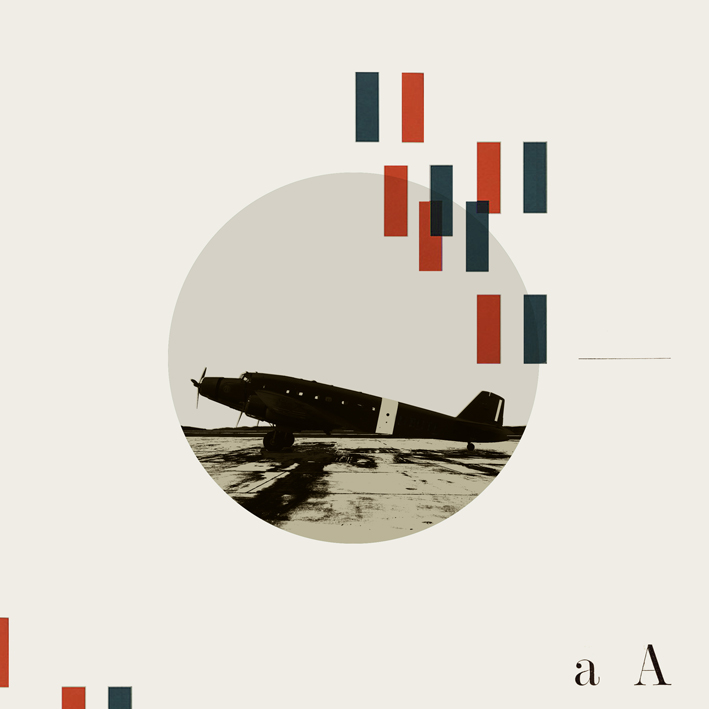 A. Airplane. Alphabet series.