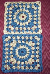 And then there were two... (Crochet Attic) Tags: squares crochet blanket afghan granny sunburstgrannysquare