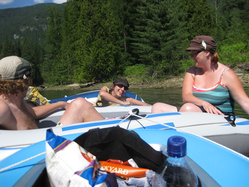 Floating down the Slocan river