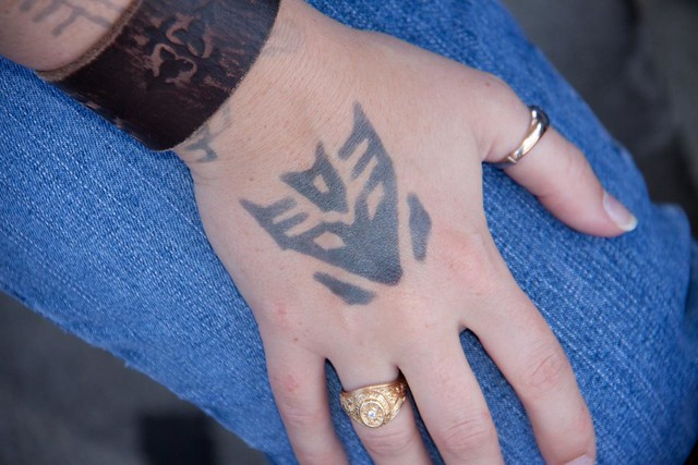 One more showing the Jagua tattoos. They are cool but it points out one