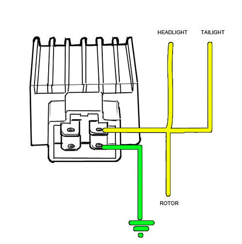 3853123646_e4ae14def2 problem hooking up a 12v regulator rectifier regulator wiring diagram images at edmiracle.co