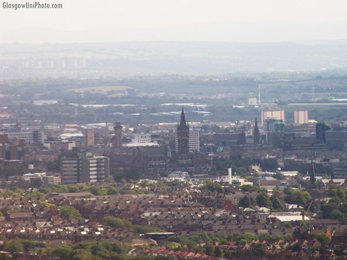 Aerial View of Glasgow University