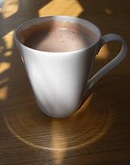 hot chocolate (the incredible how (intermitten.t)) Tags: shadow cafe hotchocolate newport 6282 trefdraeth 070809 ymochyndrwg montezumo