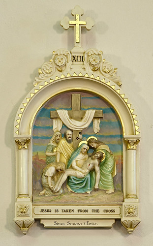 Our Lady Help of Christians Roman Catholic Church, in Weingarten, Missouri, USA - station of the cross