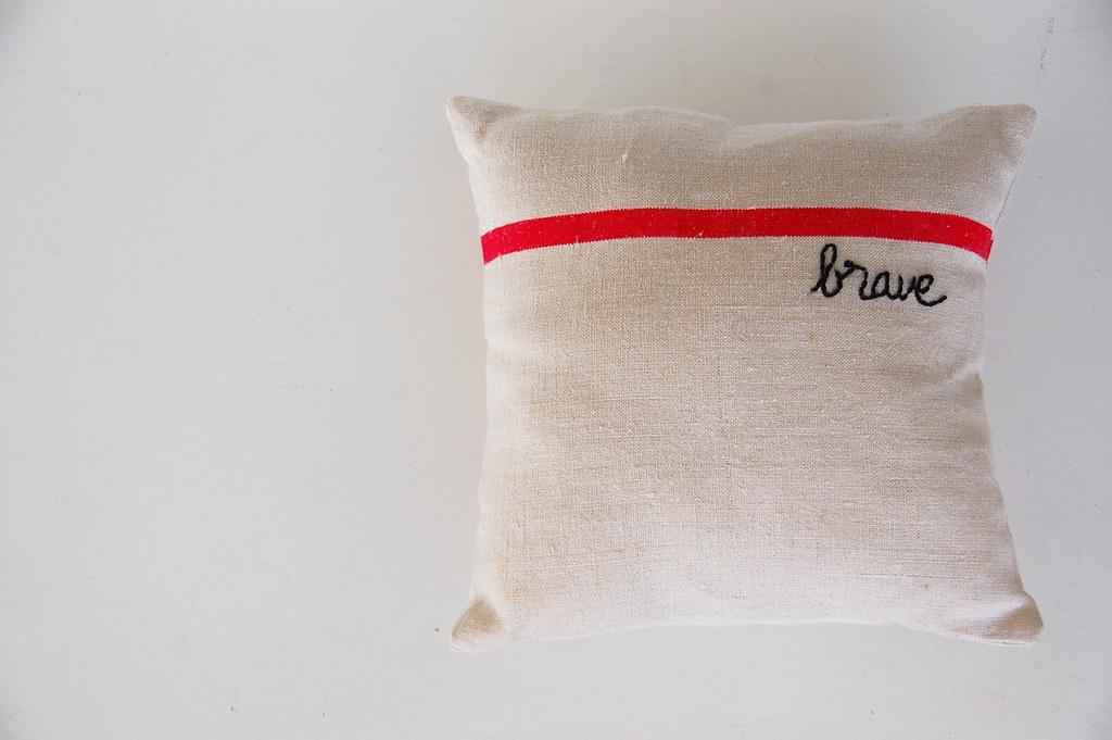 her own pillow