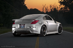 Veilside Nissan 350z on work vs-xx (dkfx photography) Tags: work silver nissan 350 350z cf carbonfiber veilside bodykit vsxx dkfx dkfxphotography intensepower