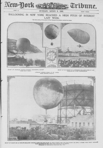 Ballooning in New York reached a high pitch of interest last week (LOC)