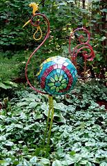Ringo Flamingo (Moe's Ache) Tags: garden mosaic beatles bloomington ringo whimsical cappi moesachestudio