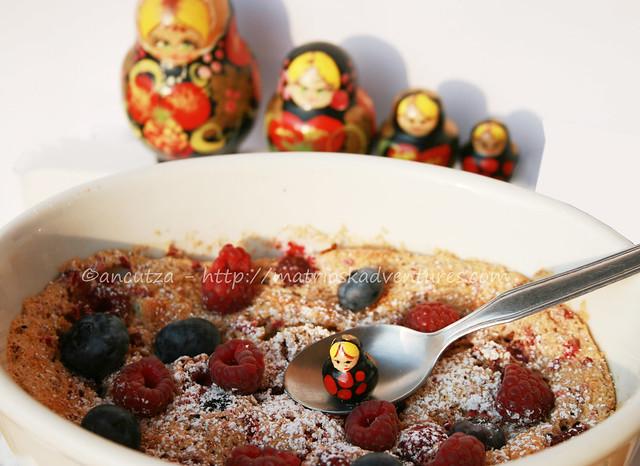 foto immagine Soufflè ai frutti di bosco