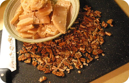 sea salted toffee and pecans