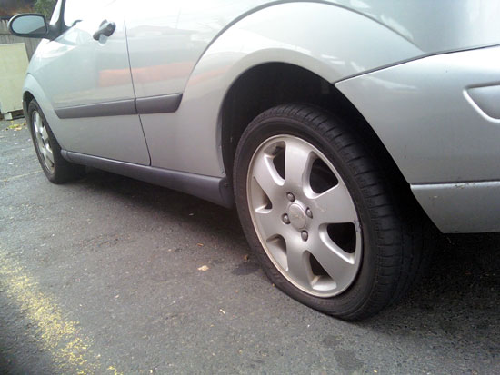 My Flat Tire (Click to enlarge)