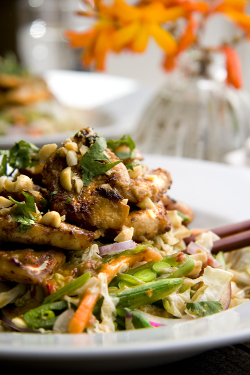 :: Irish Tatler and Asian Chicken Salad with Chilli, Ginger and Lime Dressing