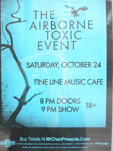 10/24/09 Airborne Toxic Event @ Minneapolis, MN (Flyer)