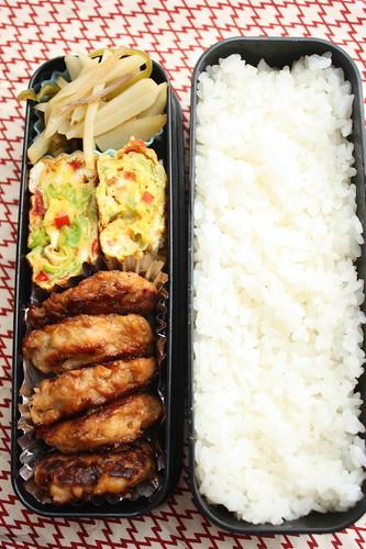 Tofu tsukune bento