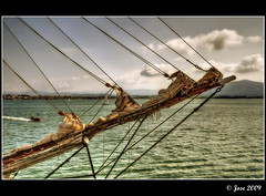 Bauprés de proa (Josepargil) Tags: mar barco velas navegar cabos velero proa bauprés josepargil