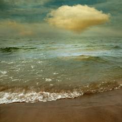 One of Them (Olli Keklinen) Tags: ocean sea sky cloud seascape color water photoshop square one nikon scenery wave 100v10f shore them 2009 d300 500x500 ok6 ollik 20091010