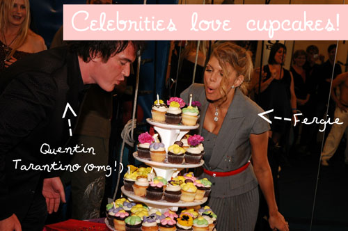Photo c/o The Cupcakery, Las Vegas: Quentin Tarantino and Fergie Love Cupcakes!