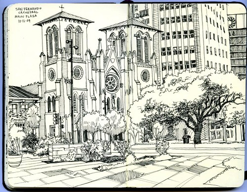 san fernando cathedral and main plaza, san antonio