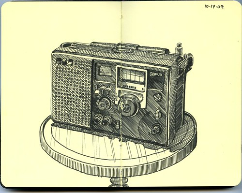 linda's grandfather's short wave radio
