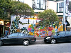 Whole Foods Mural ws (Lynn Friedman) Tags: sanfrancisco california ca usa art wall painting graffiti mural tag wholefoods haight grocerystore fillmore lowerhaight sfist 94117 lynnfriedman