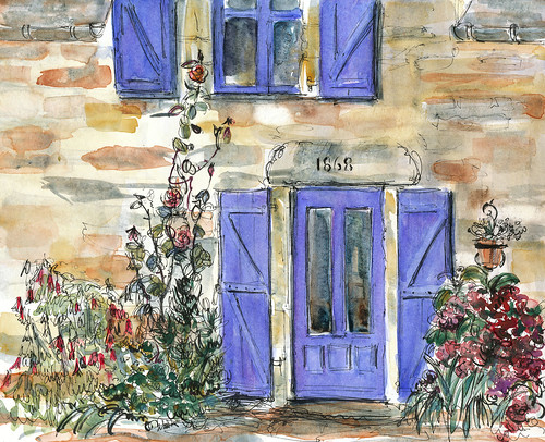 Front view, rented house in Brittany, near Josselin