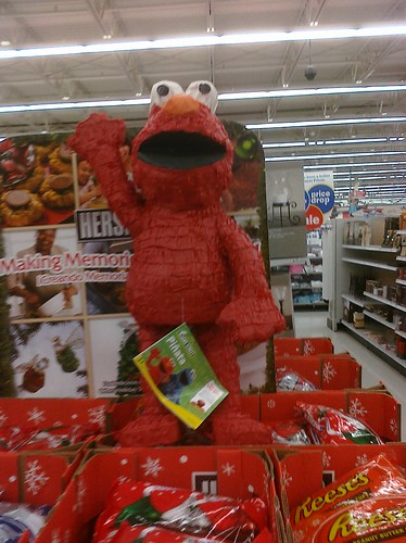 Ptw Elmo Pinata at Me1jer. Hey kids, beat the crap out of your fav  muppet! Lol