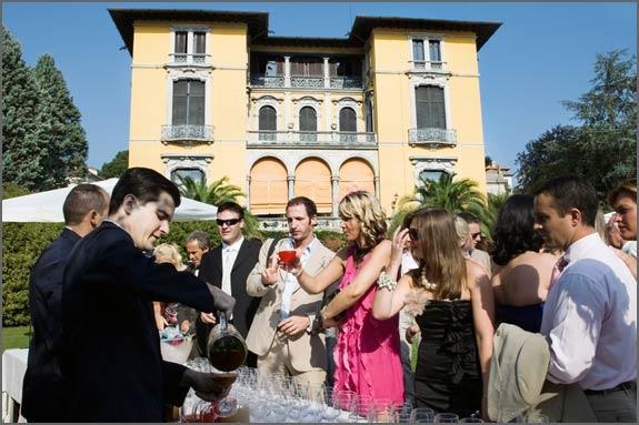 Cocktail Reception at Villa Rusconi Clerici